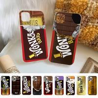 Willie Wonka-funda de teléfono para iPhone, carcasa de Chocolate dulce con billete dorado para iPhone 8 7 6S Plus X 5S SE 2020 XR 11 12 mini pro XS MAX