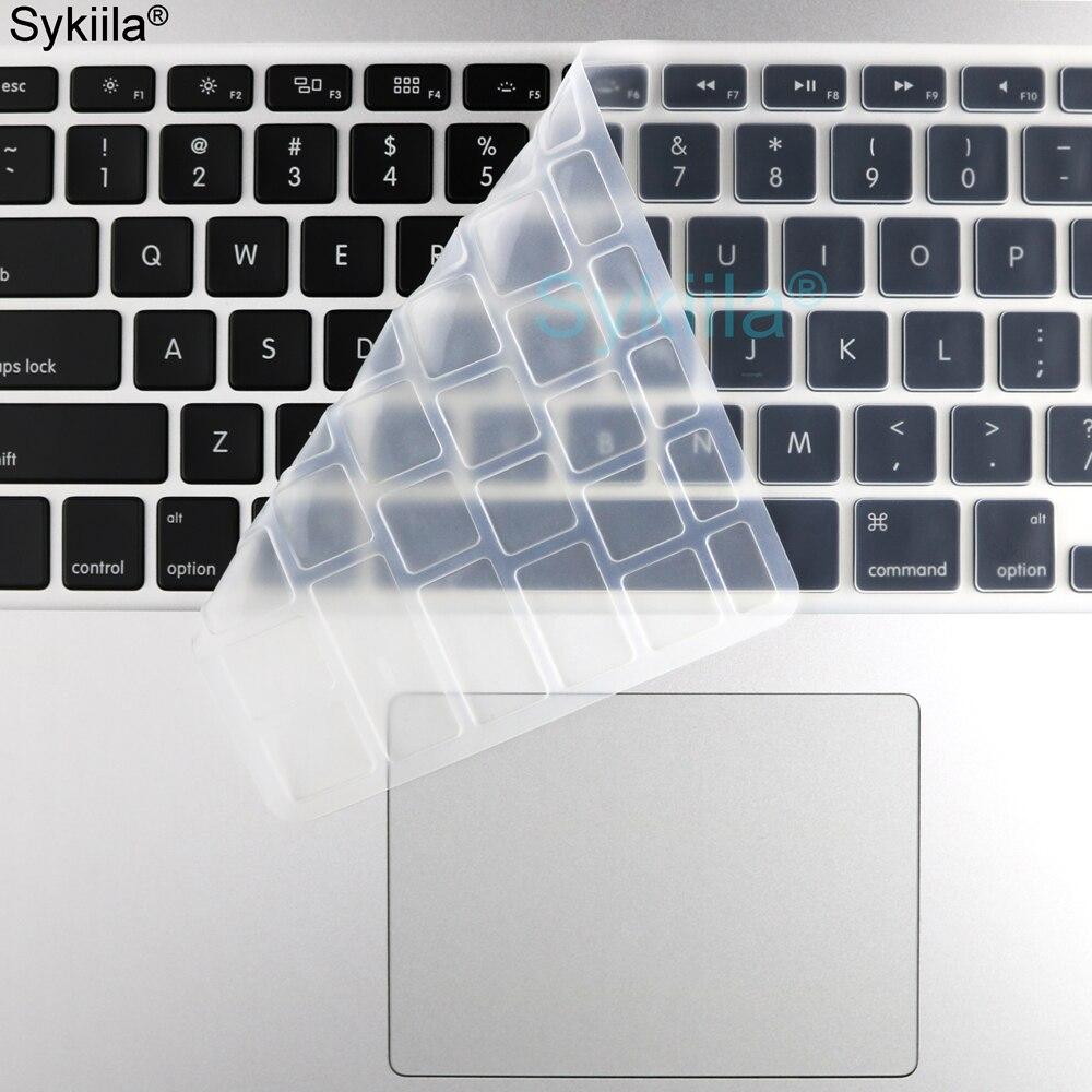 Силиконовая крышка клавиатуры для Macbook Air 11 12 13 Pro 13 15 16 Retina тонкая Сенсорная панель матовая прозрачная мягкая EU US A2179