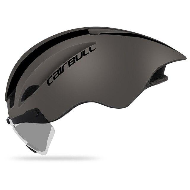 Cairbull ciclismo capacete aero tt corrida de estrada mtb capacete da bicicleta com óculos magnéticos pneumático capacete casco con gafas 3 lente 2