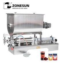 ZONESUN 60L Chili Sauce Filling Machine Paste Peanut Butter Quantitative Filler Machine Pneumatic Slurry Mixing Filling Machine