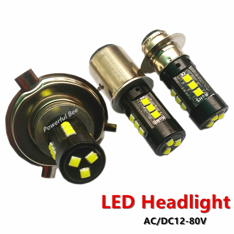 New power 30W white 3030SMD <font><b>LED</b></font> <font><b>motorcycle</b></font> car bike headlight <font><b>bulb</b></font> <font><b>H4</b></font> H6/BA20D p15d Hi/Lo beam headlamp 12-80V image