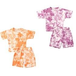 Focusnum 0-4years verão da criança dos miúdos do bebê roupas da menina do menino de manga curta camiseta shorts calças roupas conjunto