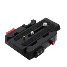 Yüksek kaliteli Manfrotto için 577 501 500AH 701 alüminyum hızlı bırakma plakası meclisi P200 kelepçe adaptörü kamera tripodu aksesuarları
