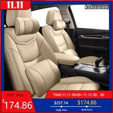 Kokololee Custom Lederen Auto Seat Cover Voor Volkswagen Passat Kever Tuareg Tiguan Phaeton Vw R36 Eos Magotan Scirocco Autostoeltjes