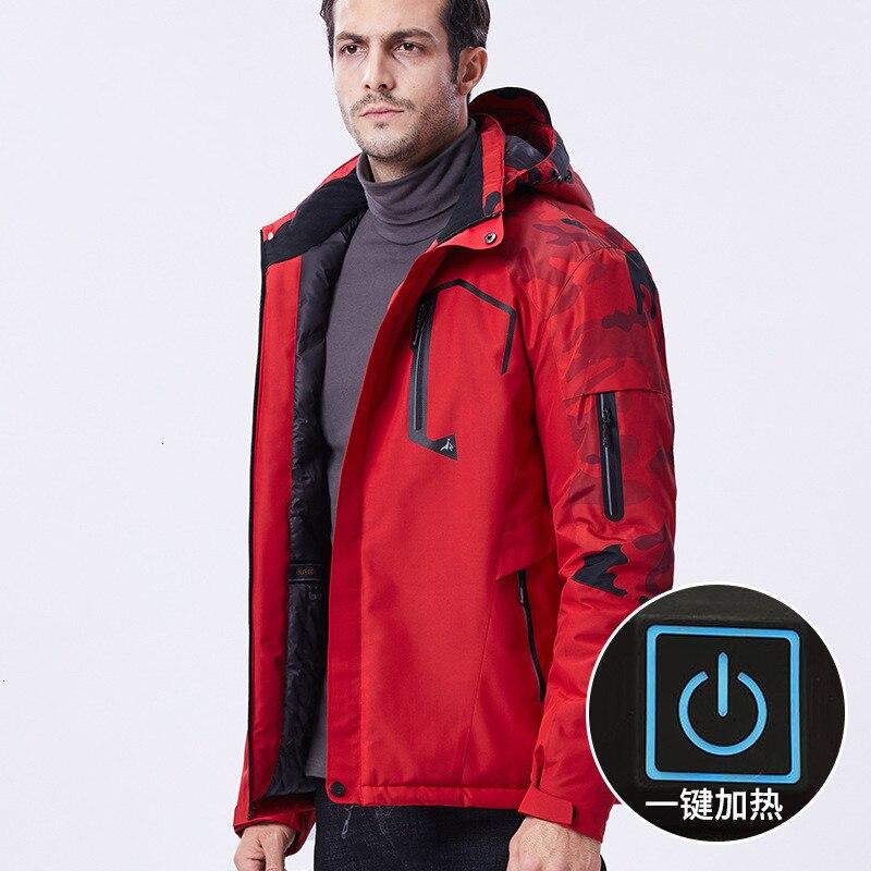 Hiver Grande Taille 10XL USB Infrarouge Chauffage Veste de Ski En Plein Air Pêche Camping Randonnée Manteau Hommes Coupe-Vent Camouflage