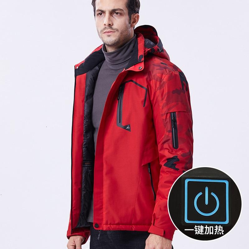 Winter Large Size 10XL USB Infrared Heating Jacket Women Outdoor Skiing Fishing Camping Hiking Coat Men Camouflage Windbreaker