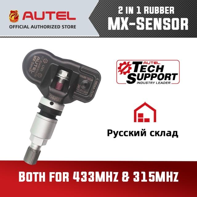 Autel mx sensörü TPMS 2 in 1 433MHz 315MHZ MX sensörü Autel MaxiTPMS TS601 teşhis aracı lastik basıncı programlama monitör
