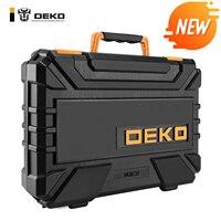 DEKO-Herramientas de reparación de automóviles profesional, llave de trinquete automático, conjunto de destornillador, kit de herramientas para mecánicos con caja de moldeado por soplado, 22 uds.
