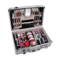 Juego de maquillaje juego de maquillaje caja de maquillaje profesional maleta completa juego de maquillaje para mujeres lápiz labial, juego de pinceles de maquillaje