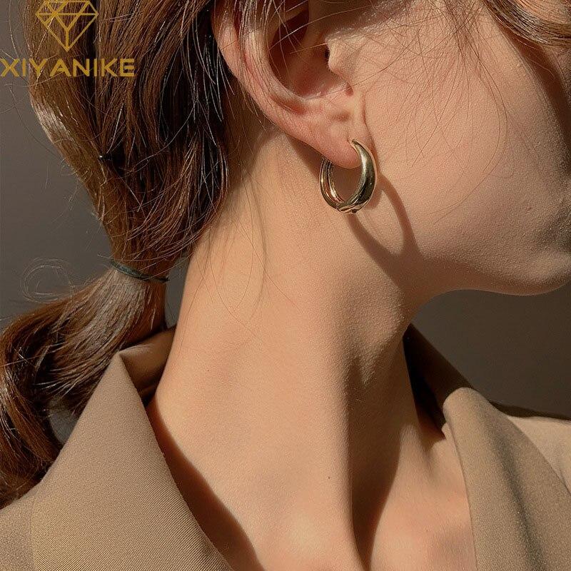XIYANIKE гипоаллергенные серьги из стерлингового серебра 925 пробы для женщин пары минималистичные геометрические серьги обручи вечерние Ювелирные изделия Подарки|Серьги-гвоздики|   | АлиЭкспресс
