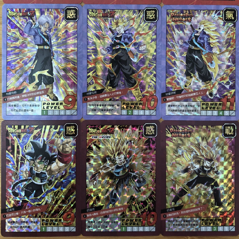 37pcs/set Dragon Ball Super Saiyan Goku Jiren Poker Game Action Toy Figures Commemorative Edition Collection Cards Free Shipping