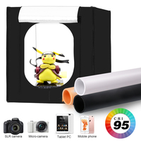 Photography Photo Studio Soft Boxes,80x80CM Foldable Portable Photography Light Tent Kit With 3Pcs Background Board
