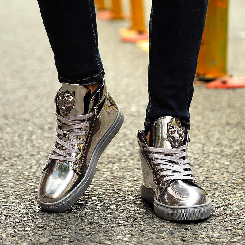 2019 Fashion Glitter Men Basketball Shoes Shiny Super Star Sneakers  Glitter Luxury Shoes Male Designer Sneakers Colorful
