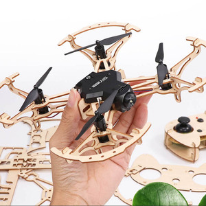 assembly DIY wooden drone with