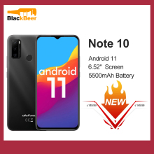 "Ulefone Note 10 Android 11 Smartphone 6.52"" 2GB 32GB Mobile Phone Octa Core 4G Cellphone 5500mAh Fingerprint Unlock 3 Card Slot"