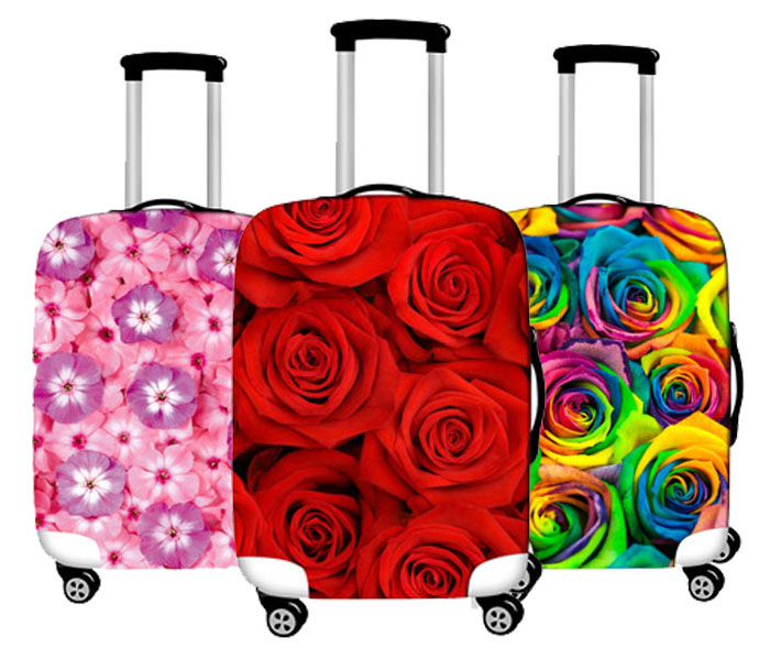 Flower Printing Luggage Protective Cover Elastic Travel  Suitcase Cover Anti-dust Trolley Case Cover For 28-32 Inch