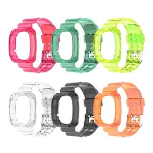 Разноцветный чехол для смарт-браслета Fitbit Versa 3, прозрачный ремешок, Новый Сменный пластиковый Прочный Устойчивый к царапинам смарт-браслет