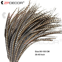 Wholesale 90 100CM/36 40Inch natural Lady amherst tail pheasant feather Carnival Costumes Party Home Wedding Decorations