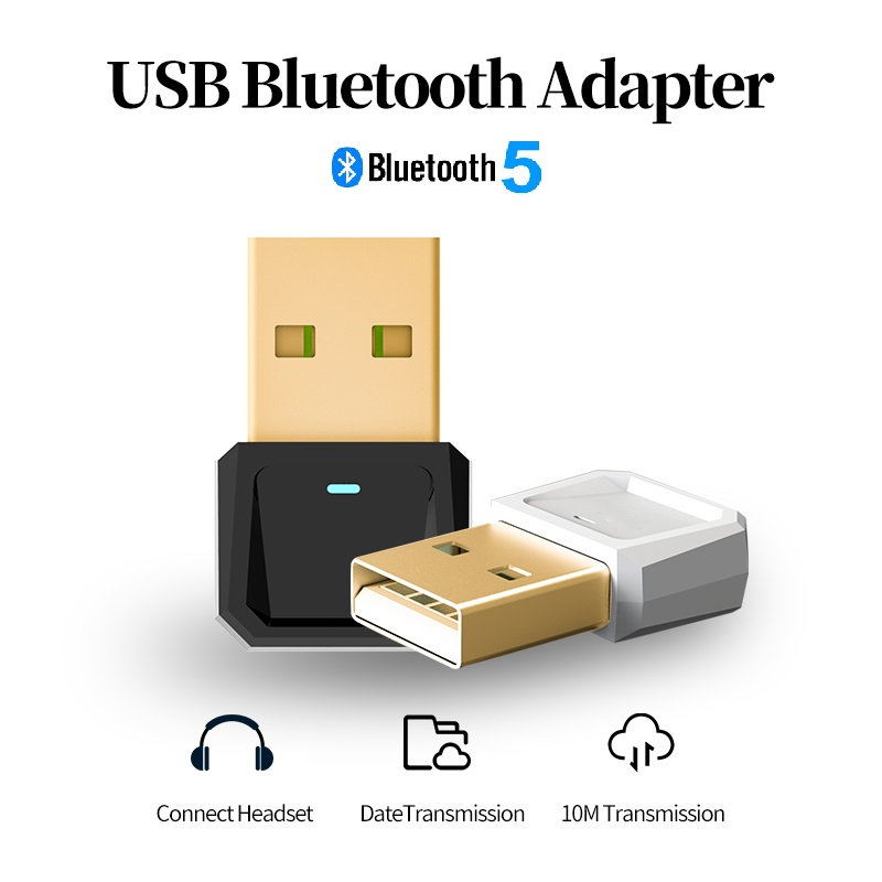 GOOJODOQ USB Bluetooth Dongle Adapter 5.0 For PC Computer Bluetooth Headset Speaker Mouse Music Audio Mini Receiver Transmitter