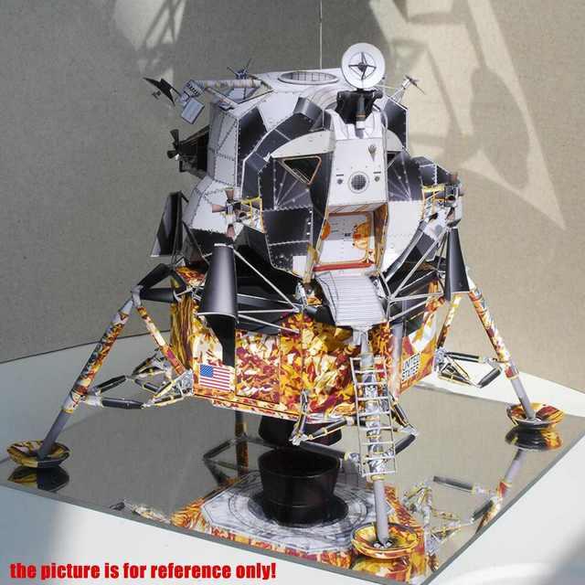 Space Fine Apollo 13 Lunar Module DIY 3D Paper Card Model Building Sets Construction Handmade Toys Educational Toys Model 4