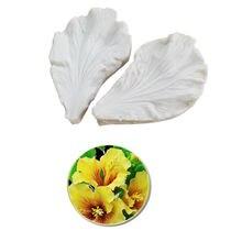 Гибискус цветок лепесток veiner силиконовые формы шоколадный