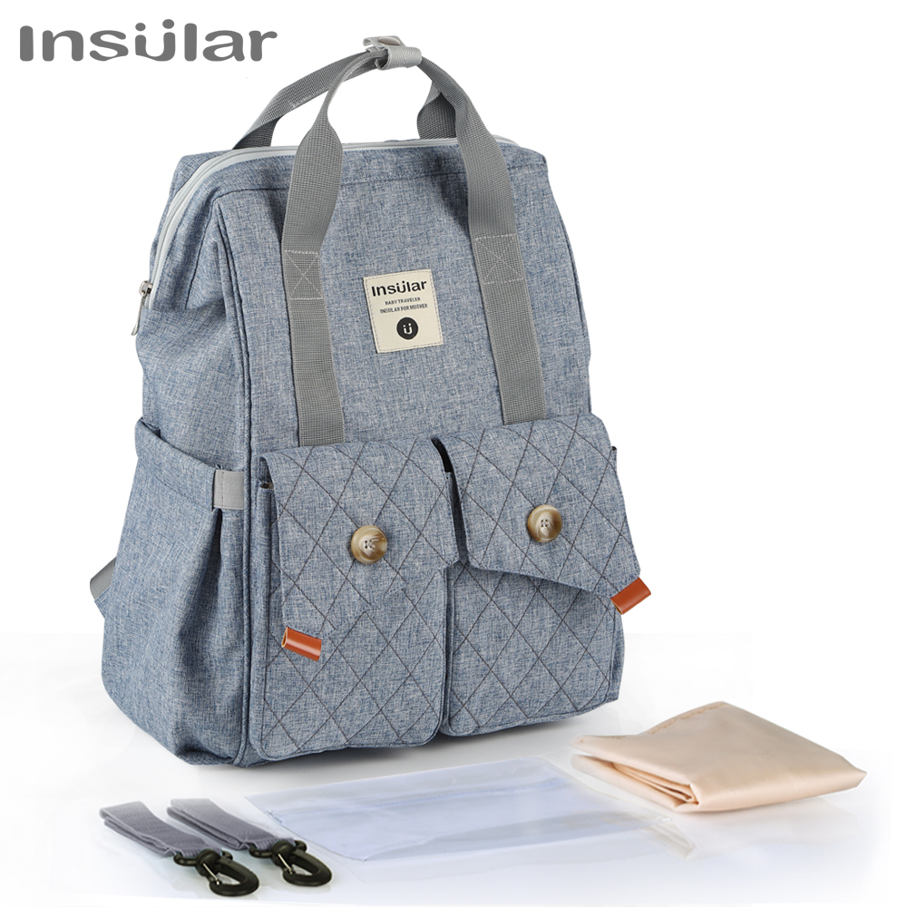 Fashion Diaper Bag Backpack Waterproof Nylon Large Capacity Travel Stroller Organizer Nappy Changing Mom Maternity Shoulder Bags