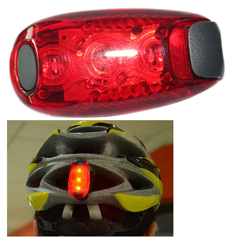 ABUO-Bike Cycling Lights Super Bright 3 Led Bike Light Taillight Safe Lamp Warning Mountaineering Backpack Helmet Run