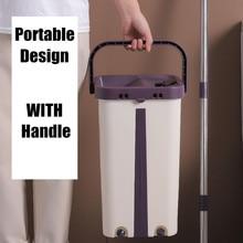 Fregona para escurrir balde para suelo de lavado Lightning ofrece mopas exprimibles para limpiar suelos limpiador de casa hogar cocina fácil plana