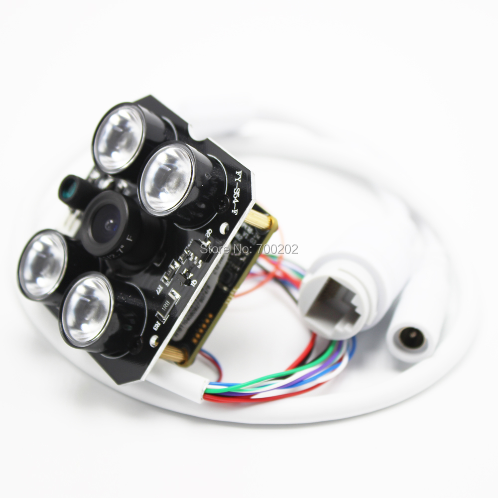HD 4MP 1080P 2MP HD Security IP Network Camera Module Board With IR Light Leds XMEYE App Onvif Night Vision And Lens 2.8mm