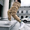 Streetwear Black Harem Pants Men Elastic Waist Punk Pants With Ribbons Casual Slim Jogger Pants Men Hip Hop Trousers 9