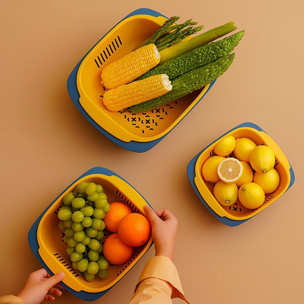 Домашние комплекты ночного белья из 2 предметов Кухня фруктов овощей сливная корзина ситечко чаша-держатель