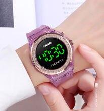 Часы skmei женские цифровые водонепроницаемые модные светящиеся
