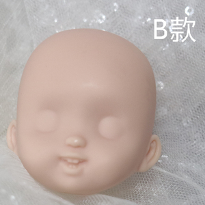 Image 5 - חמוד פנים מיני בובת ראש עבור 1/8 16cm בובת חיוך עם שן ללא Makup ראש חליפת עבור ob11 גוף