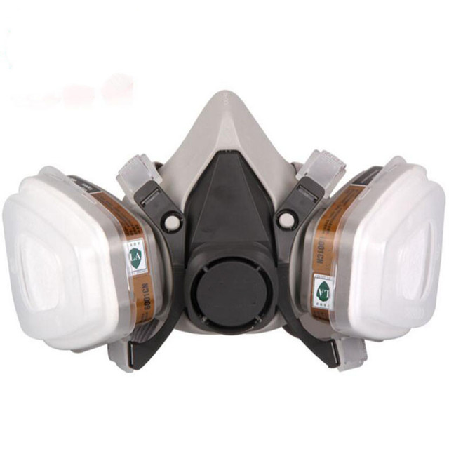 9in1 6200 N95 PM2.5 Half Face Gas Mask Respirator Painting Spraying Acid gas organic vapor with 6001/6002/6003/6005 Filter 1