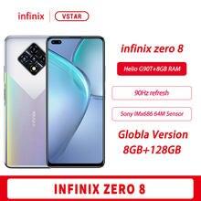 Globalna wersja oryginalny Infinix Zero 8 SmartPhone 6.85 cala 90Hz 8GB 128GB Helio G90T Octa Core 33W Super ładowanie Google Play