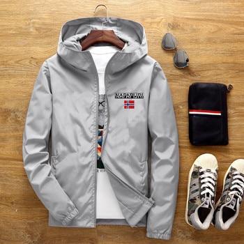 Men's Street Waterproof Jacket Parker Aviator Hooded Windbreaker Thin Zipper Casual Spring Autumn 2021 2