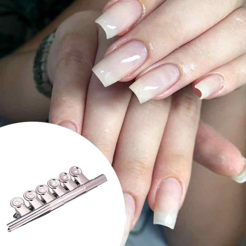 6Pcs In Acciaio Inox C Curve Nail Pizzicare Pinze Curvatura Clip Professionale Francese Del Chiodo di Estensione Curl Pinze di Strumenti per Manicure