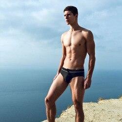 Мужская короткая одежда для плавания, мужские плавки с фламинго, плавки, бикини, низкая талия, с мешочком для пениса, купальный костюм, мужск... 3