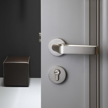 1 Set Unique design/ Door Lock Nordic Style Bedroom Door Handle Lock Interior Anti-theft Room Safety Door Lock