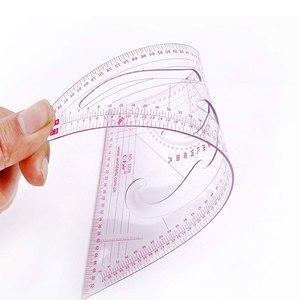 Image 4 - MIUSIE 10 pz/set Cucito Su Misura Curva Francese Modello di Classificazione Righelli Disegno Linea di Misura Dei Vestiti Patchwork di Disegno Righello Set