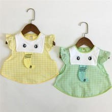 Cape Bib Smock Feeding-Clothing Burp-Cloths Long-Sleeve Infant Baby Waterproof Children