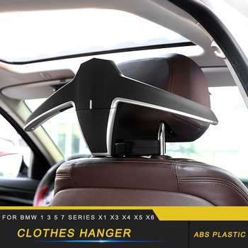 Car Accessories Clothes Hanger Coat Stand Seat Headrest Stand Jackets Suits Holder Rack for BMW 1 3 5 7 Series X1 X3 X4 X5 X6 image