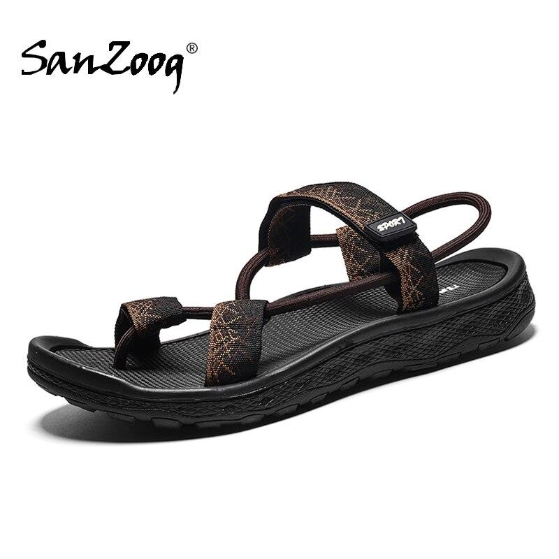 Men Summer Gladiator Rome Sandals Mens Casual Breathable Slip On Open Strand Sandalen Sandalias Romanas Hombre Beach Sandal Man