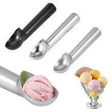 Sorvete portátil de liga de alumínio, antiaderente, creme de gelo, colher, para casa, acessórios de cozinha