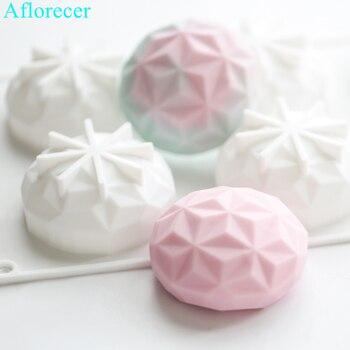 Forma de diamante molde de silicona para manualidades de vela hecho a mano hornear moldes jabón molde de herramientas de cocina regalos de navidad