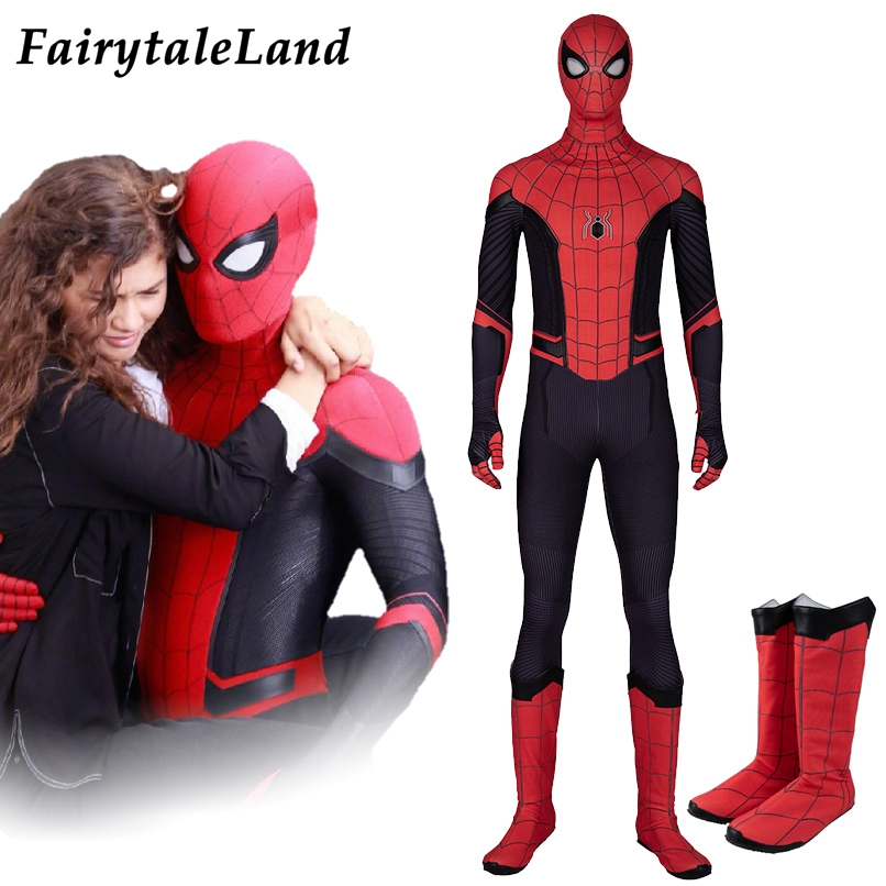 far from home Spider Man Costume Superhero Halloween Costumes Cosplay Spiderman Jumpsuit Spider man outfit Custom