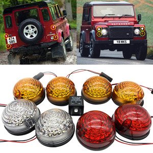 Image 1 - 4 * sarı + 2 * temizle + 2 * kırmızı 8 adet Land Rover Defender 90 16 90/110 83 90 komple Led lamba yükseltme kiti gösterge dur/kuyruk pozisyonu