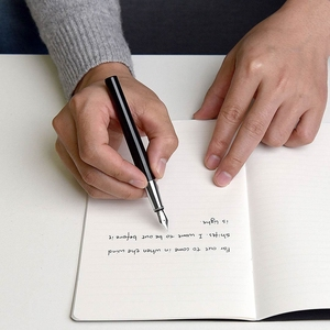 Image 3 - Caneta fonte youpin kaco branca, caixa de metal nas cores preta e branca para armazenamento de 0.3mm caneta para escrita, caneta de assinatura