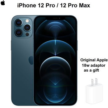 """Authentic Original Brand New iPhone 12 Pro/Pro Max 5G 6.1/6.7"""" XDR Display with Original Adaptor as Gift IOS 14 Smartphone"""