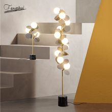 Nordic Design Petal Floor Light Lighting Modern Minimalist LED Floor Lamp for Living Room Decoration Bedroom Decor Standing Lamp brokis muffins floor lamp wood base glass shade light nordic design modern floor lamp novelty vintage bulbliving room sofa side